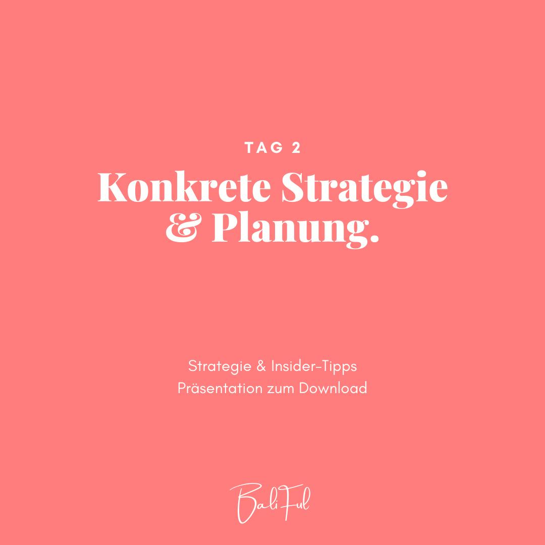 Baliful strategie und planung auswandern