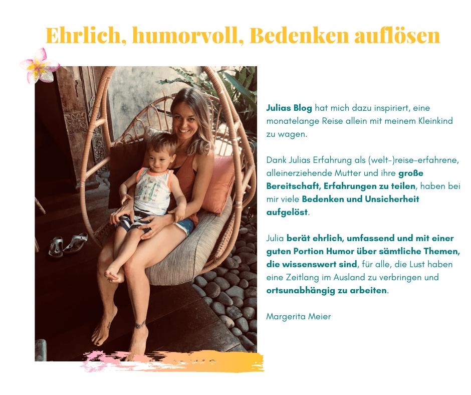 Testimonial Auswandern Margerita Meier