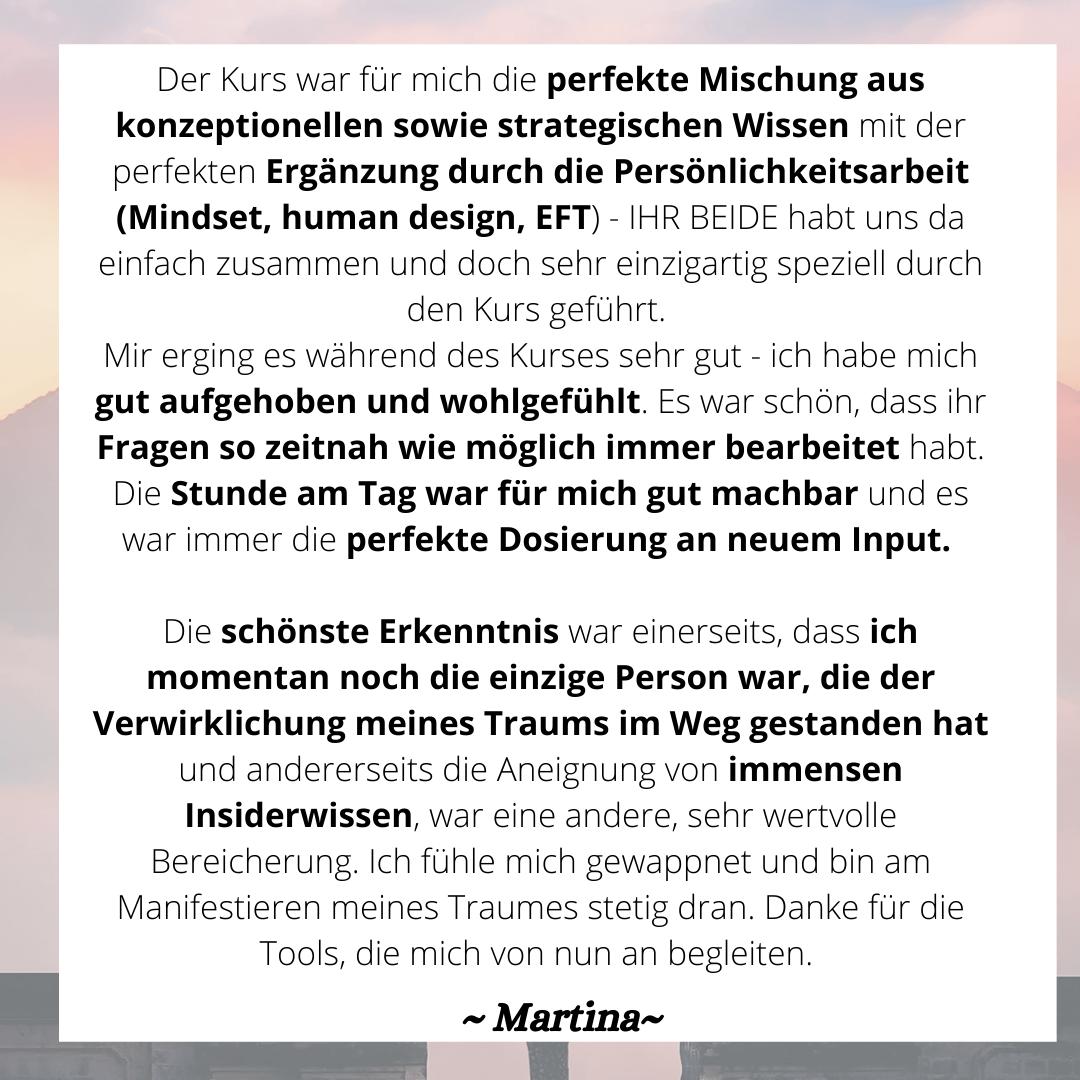 Empfehlung Martina