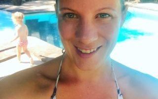 Bali Pool Ubud Mutter Kind